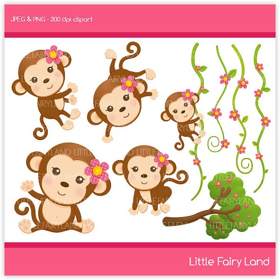 Monkey Clipart - I want to use for Jewels Birthday