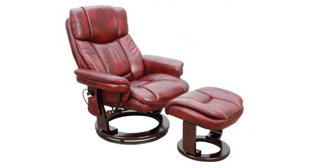 Monaco Massage Swivel Recliner Chair & Stool | ScS Sofas