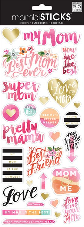 Me and My Big Ideas - MAMBI Sticks - Clear Stickers - Super Mom