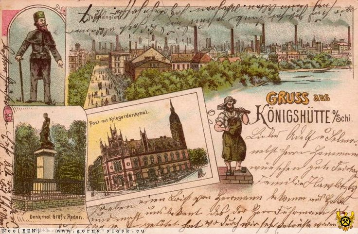Widokówki z Chorzowa, Chorzów - 1908 rok, stare zdjęcia