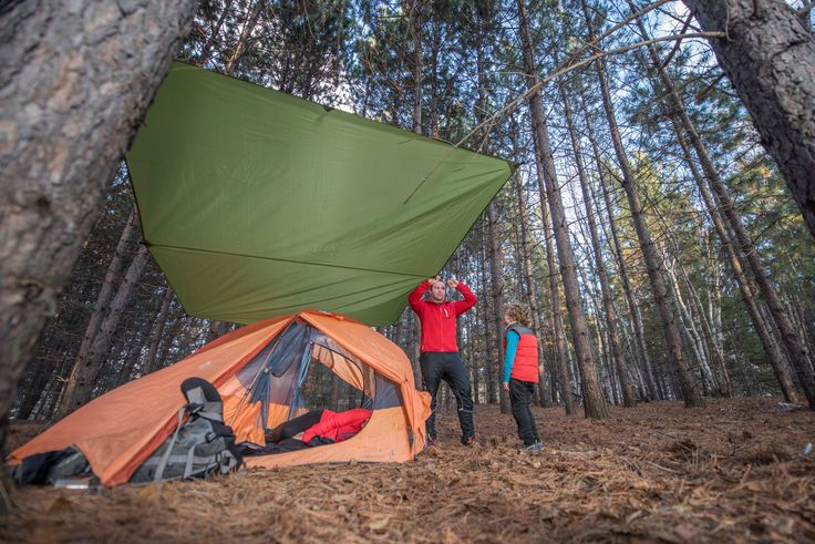The ECLYPSE II RAIN FLY IS PERFECT FOR TENT AND HAMMOCK CAMPING!