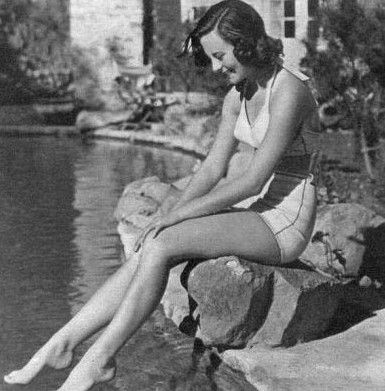 French actress Michele Morgan by the pool at 10050 Cielo Drive in 1942http://www.house-crazy.com/10050-cielo-drive-the-last-house-of-sharon-tate/