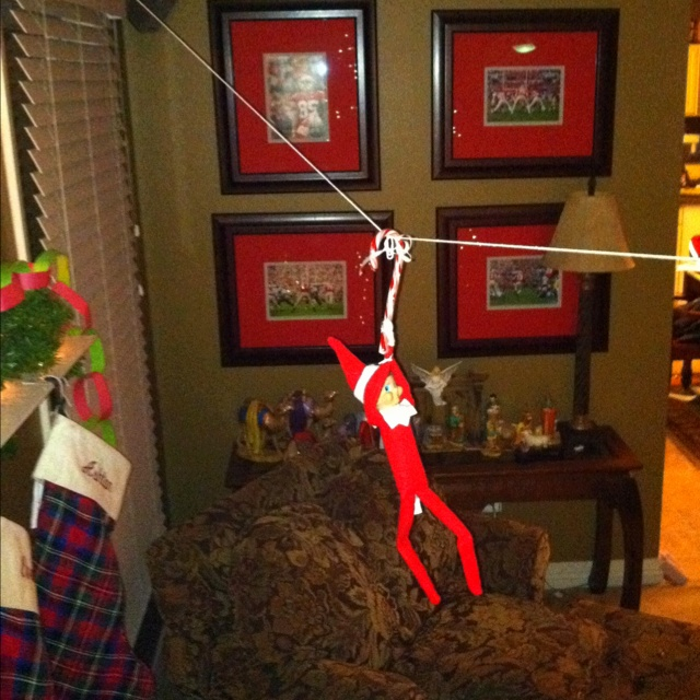 elf on the self zip line!!