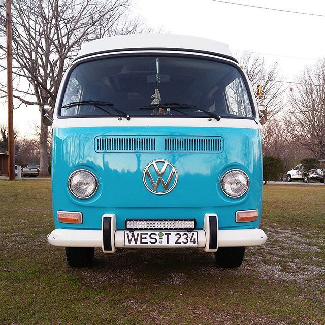 Liked on InstaGram: Got my light bar mounted! For a cheap light bar this thing is bright! Should have no problem seeing on them old country back roads now. #vw #volkswagen #baypride #westfalia #baywindow #generalgrabbers #ledlightbar #aircooled #drivethem