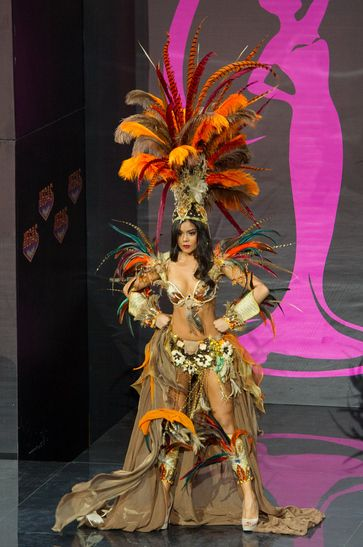 Miss Universe 2013 National Costumes - Miss Mexico - what makes this one is the don't-mess-with-me expression on her face - she is FIERCE.