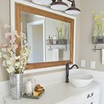Morning friends So one of the questions I get most often is where we found this fabulous light in our master bathroom Well believe it or not its actually from Amazon We added a little extra farmhouse charm by mounting it to that wooden plankwhich is working double duty because its also hiding a giant hole from the previous light fixture And the best part of all is that its super affordable I put the direct link to the light in my bio if you want to check it out Ill link it here too httpl...