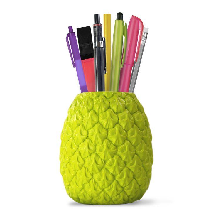 Seriously Tropical Penpot - Bright Green - from Vunk #penpot #pineapplepenpot #limegreen #stationary