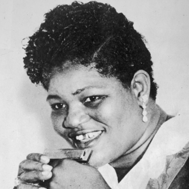 """Big Mama Thornton was a blues singer whose songs, including """"Hound Dog"""" and """"Ball and Chain,"""" influenced the development of the rock and roll genre."""