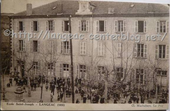 Collège Saint Joseph en 1935