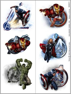 Marvel the avengers super hero temporary tattoos moldes for Superhero temporary tattoos