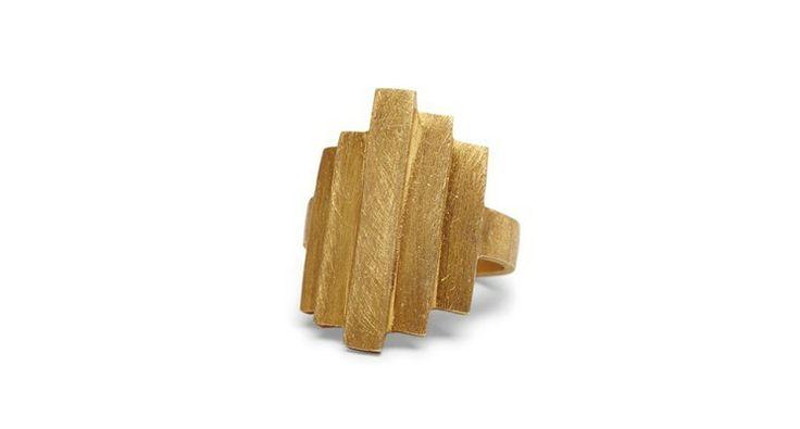 Brick Ring guld fra PERNILLE CORYDON