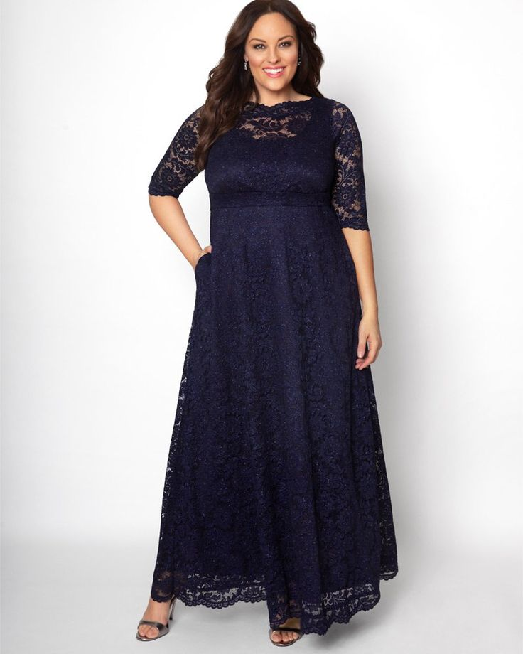 Check out the deal on Leona Glitter Lace Gown at Kiyonna Clothing