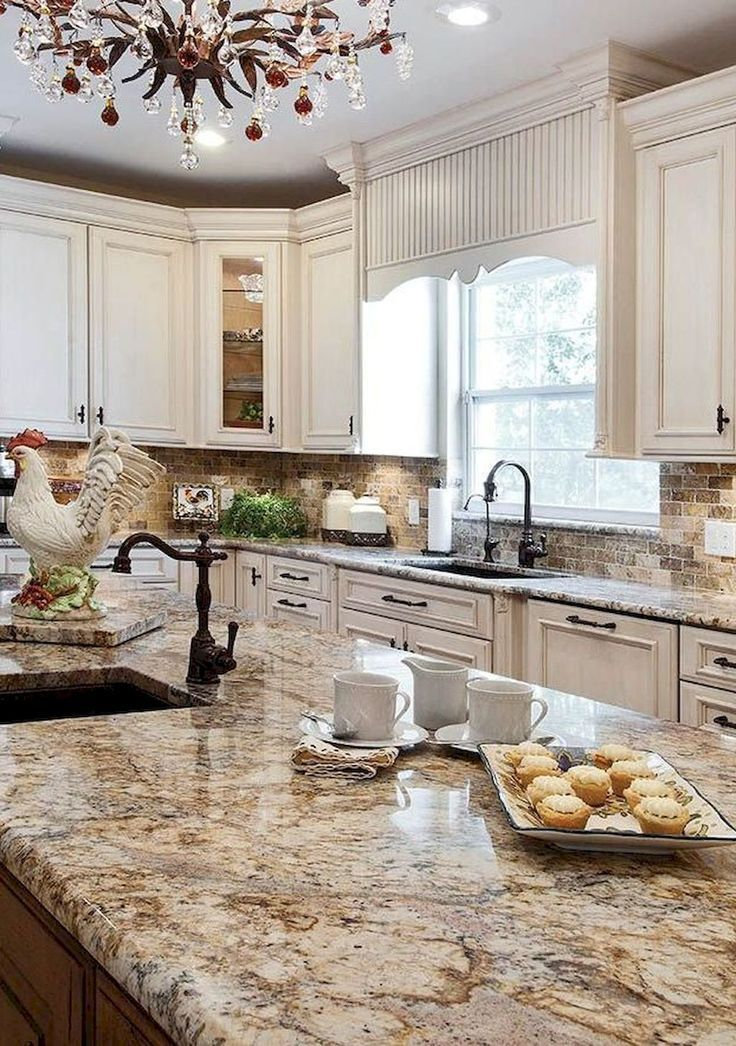 Awesome 80 Beautiful French Country Kitchen Design Ideas #Country