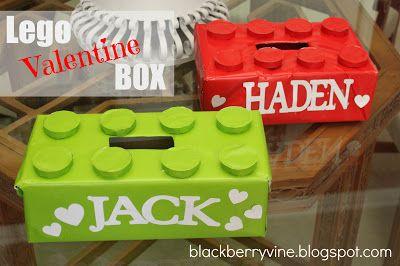 Lego Valentine Box. @Jenni Juntunen Juntunen - could we make Allie make this her box this year?