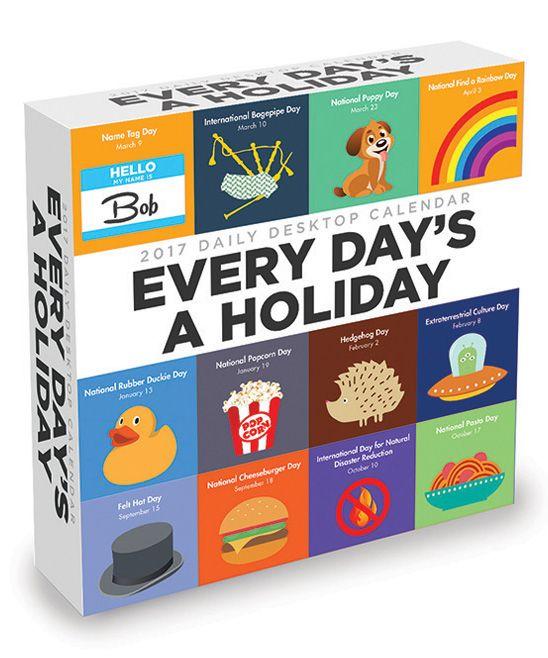 Every Day's a Holiday 2017 Daily Desktop Calendar