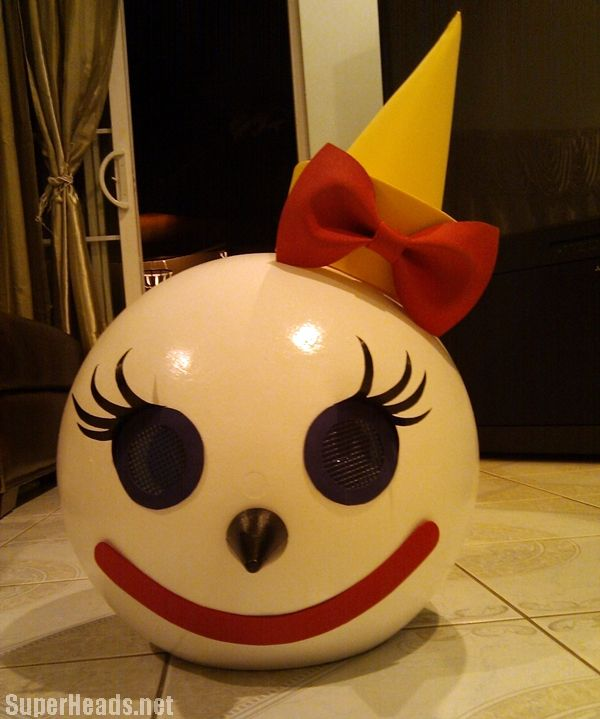 mrs jack head costume in the box 12000 movie party