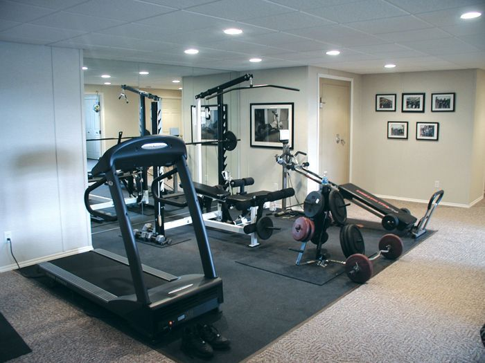Home Gym In Finished Basement Gym Room At Home Gym Room