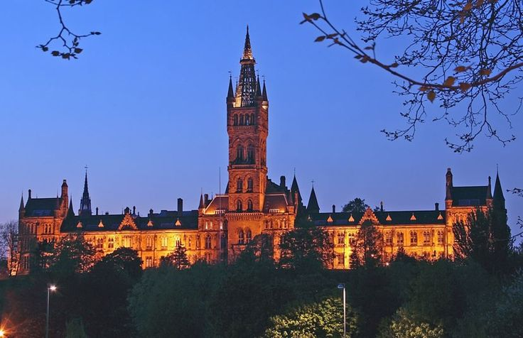 "One of Scotland's vaunted ""Ancient"" universities, Glasgow University boasts many fine buildings such as the Gilbert Scott building – the second-largest example of Gothic revival architecture in Britain after the Palace of Westminster.  Picture: Rex"