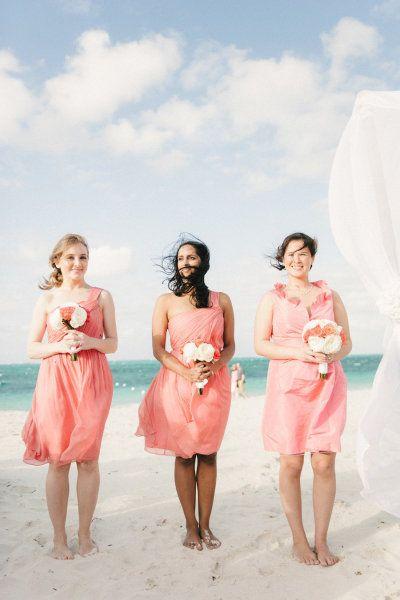 Bridesmaids in J Crew at a tropical beach wedding160 best Tropical Bridesmaids Style images on Pinterest  . Destination Wedding Bridesmaids Dresses. Home Design Ideas