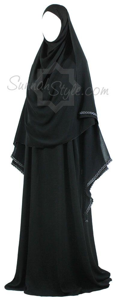 Silver Links Abaya by Sunnah Style #SunnahStyle #abayastyle #Islamicclothing