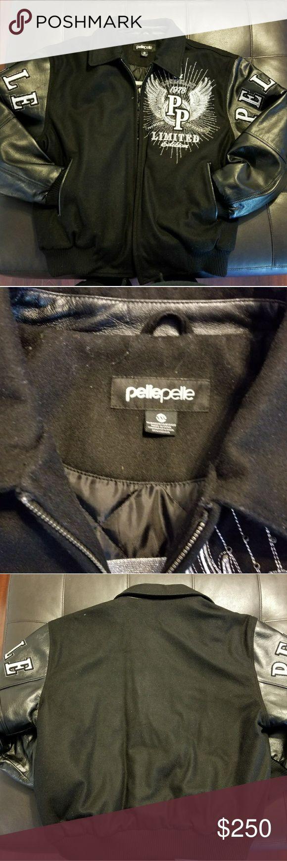 NWOT Pelle Pelle Jacket..BEST OFFER Wool & leather jacket. Too big Pelle Pelle Jackets & Coats
