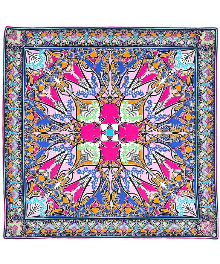Pink Liberty London New Ianthe Silk Scarf | Accessories | Liberty.co.uk