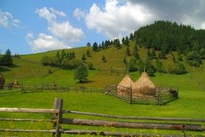 Traditional romanian haystack