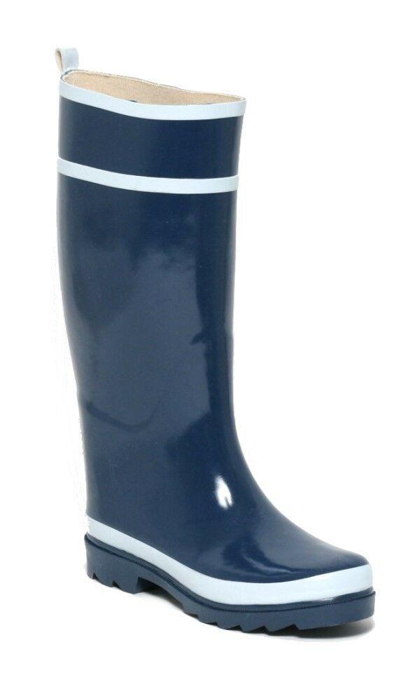 Rouchette Herren Gummistiefel Navyblau Regenstiefel Langschaft