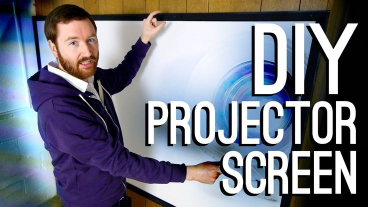 For under $70, Griffin builds a classy 93-inch fixed projection screen! Also, where to buy cheap screen material—blackout cloth—and how to add a DIY tripod m...