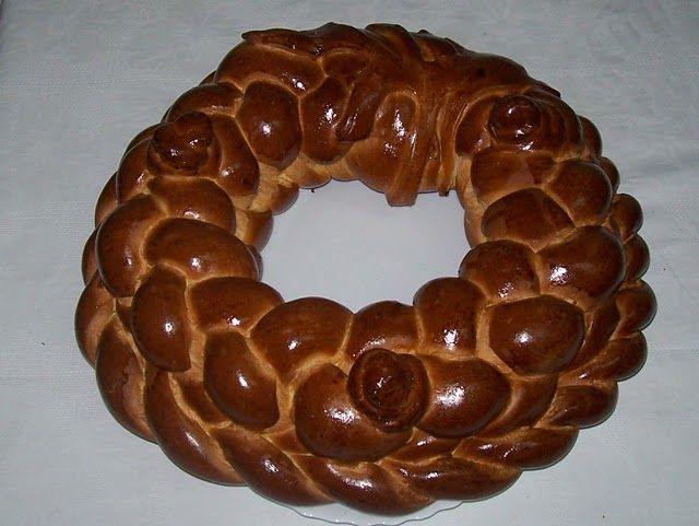 Kalach – is ritual bread. It is considered to be one of the main attributes on weddings and some other Ukrainian feasts. Kalach is usually baked in the form of oval with a hole in the middle. It is mostly popular in the West Ukraine, while korovai is famous in other Ukrainian regions.