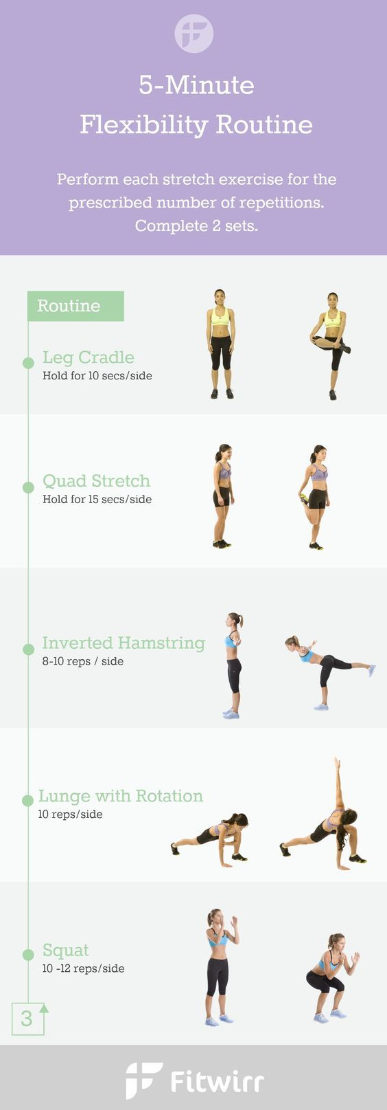 5 minute flexibility stretches to warm up prep your body before workout with this full
