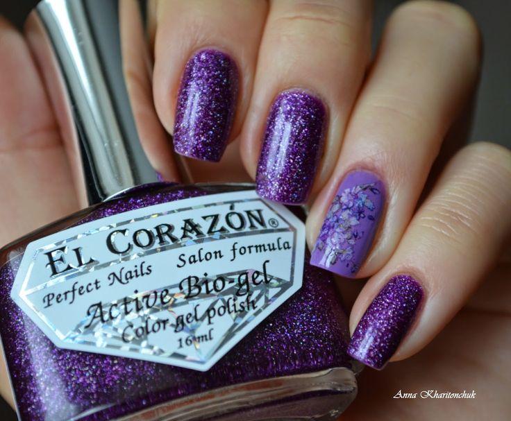 Лаколюб, лакоман и лакофан :): Winter11DNC. Фиолетовые ногти. EL Corazon Active B...