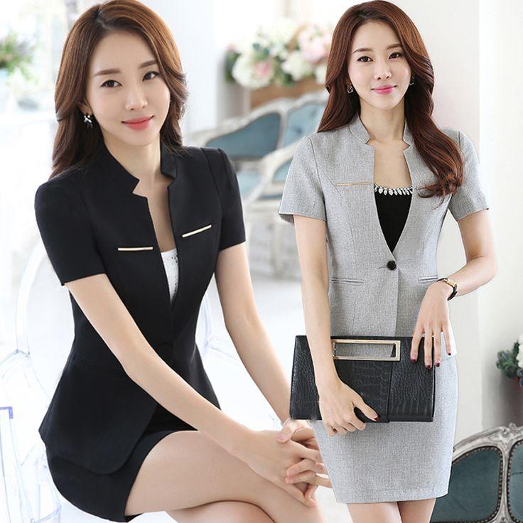 Professional Women Wear Summer Short Sleeved Suit Work Clothes Cultivation Jewelry Hotel Front Desk Uniform Female Suit J050