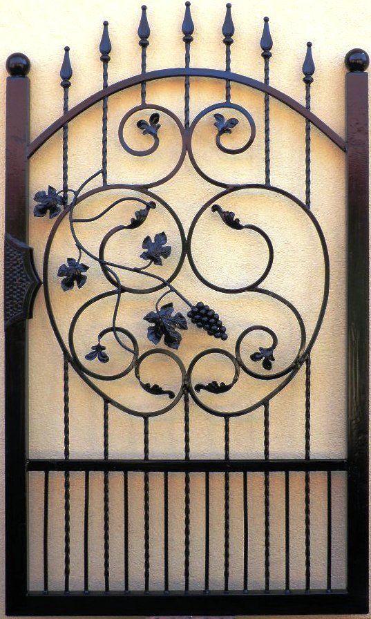 Cancello Pedonale Pforte Tor Eisentor Gartentor Gate Portillon fer Forgé Puerta