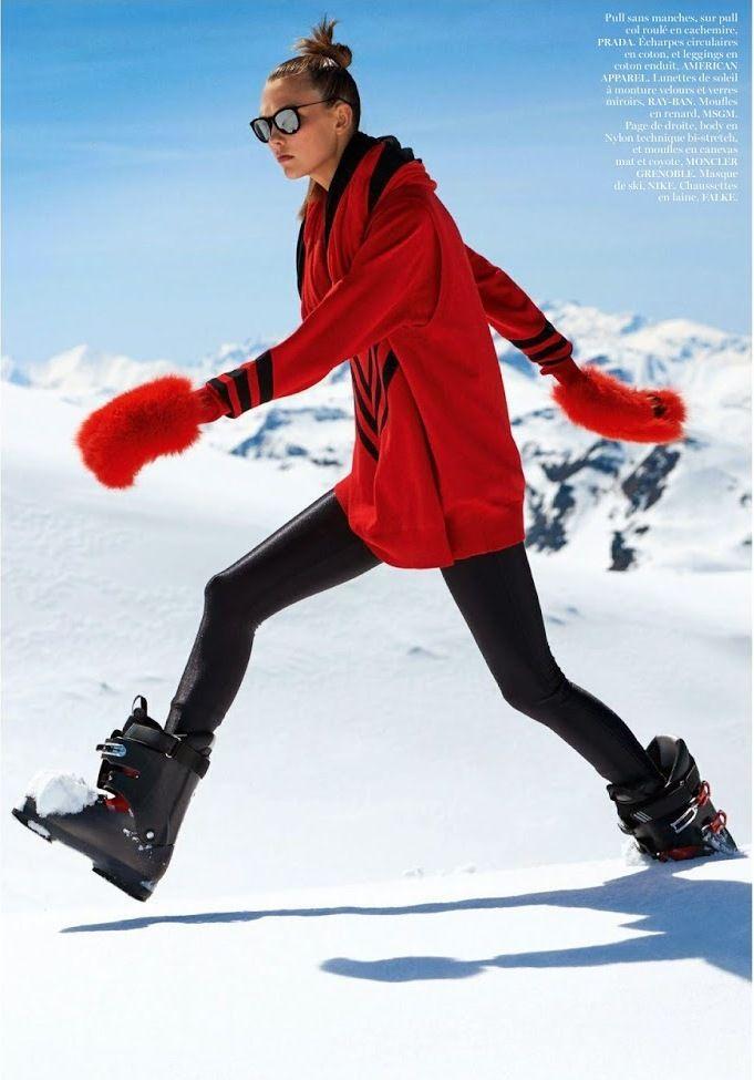 Karlie Kloss por Gilles Bensimon para Vogue Paris Novembro 2014 [Editorial]