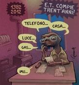 ET ha trent'anni! Disegno digitale - vignetta per il Misfatto 10/6/12