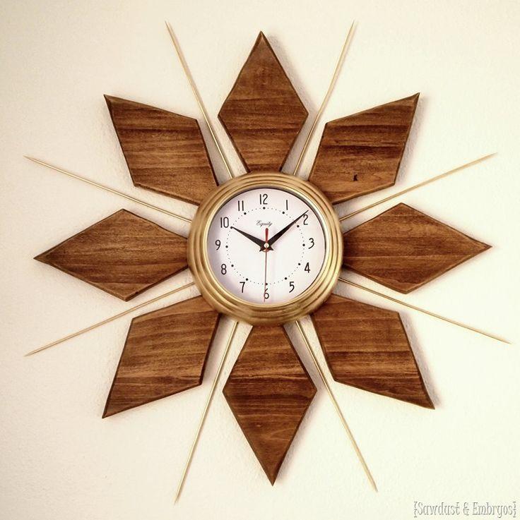 midcentury modern esque starburst clock