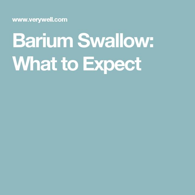 What is the barium swallow test used for?