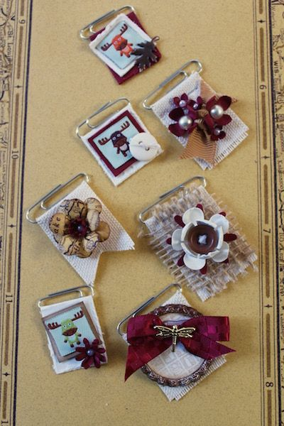 Paper Clip Embellishments - #ClubScrap by Julie Heyer