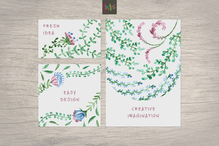 50 floral watercolor vector brushes by GivArt on @creativemarket