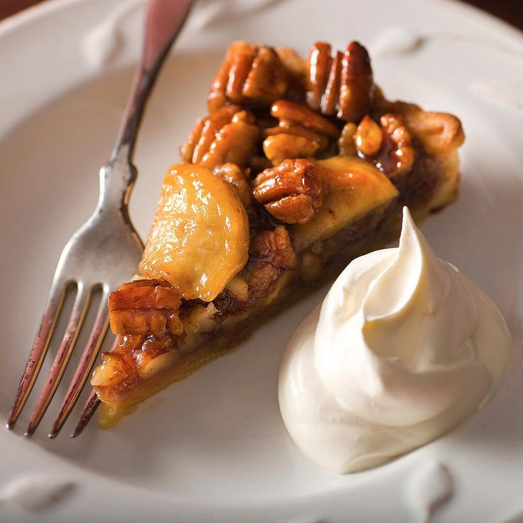 Dessert for breakfast. Apple-pecan tart from Florence Fabricant. The recipe link is through our profile. (Photo: @francescotonelli) #
