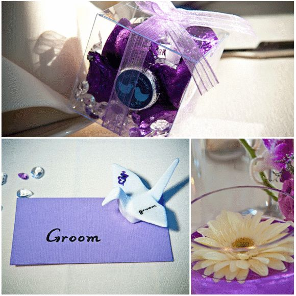 Elegant Purple Outdoor Wedding in Bristow, Virginia