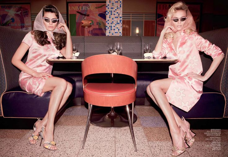 Natasha Poly & Isabeli Fontana by Inez & Vinoodh for Vogue China March 2012
