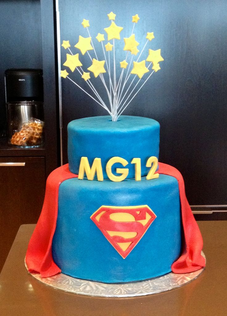 superman birthday cake by lauren (20120727)