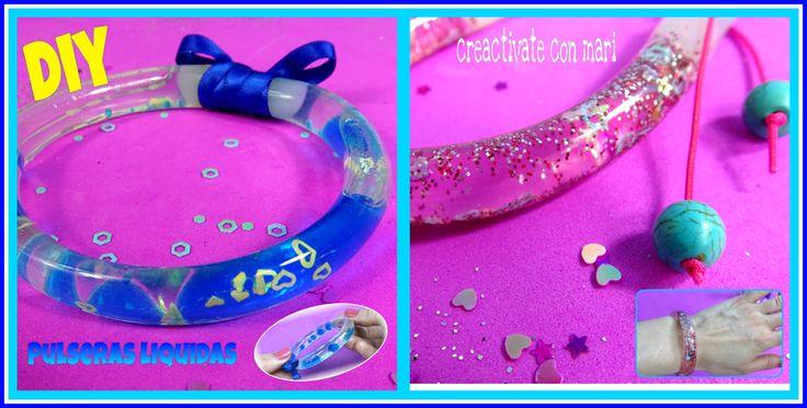 Seguimos las últimas tendencias en cuanto a bisutería se refiere con estas pulseras hechas con tubos de plástico rellenos de líquido.