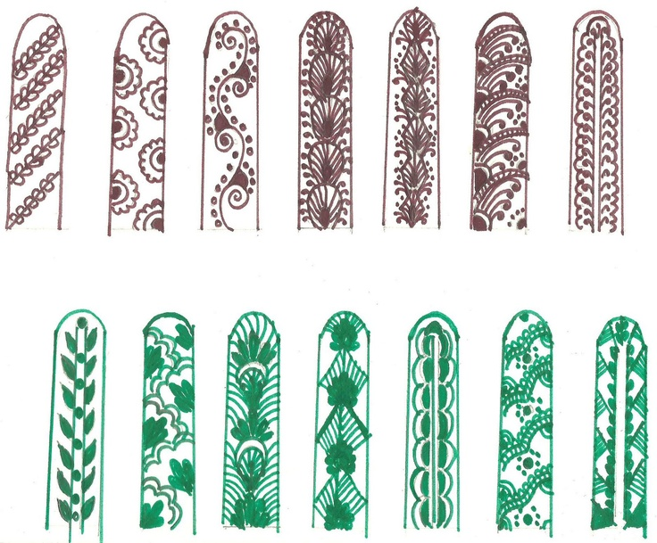 Mehendi- lovely finger designs