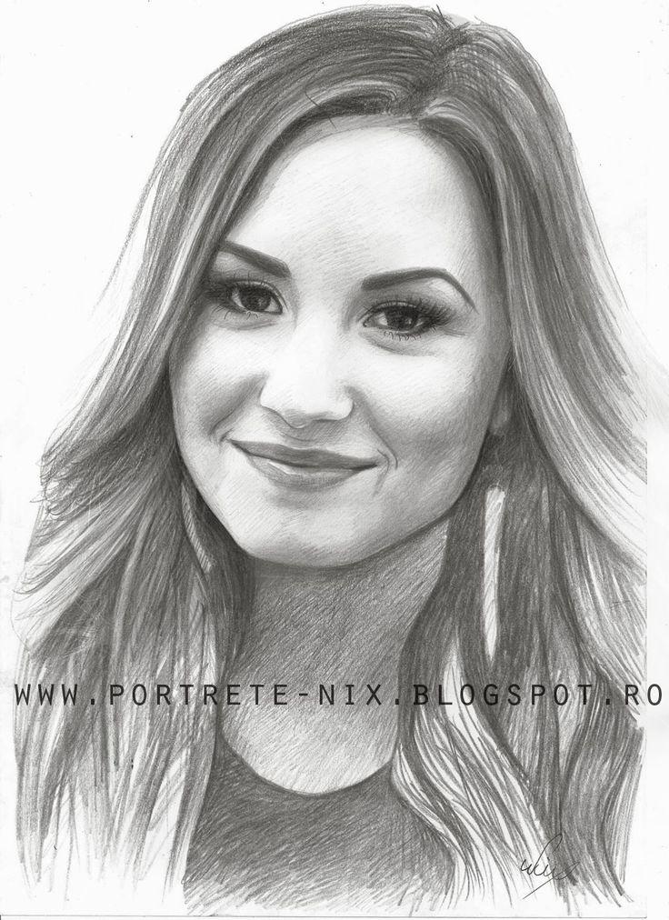 Demi lovato portret in creion !