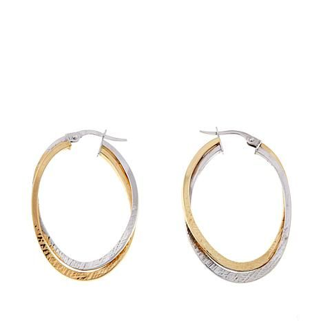 Shop Passport to Gold 14K 2-tone Double Oval Hoop Earrings 8539952, read customer reviews and more at HSN.com.