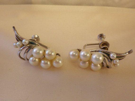 Vintage Sterling Silver  Cultured Pearl by EternalElementsEtsy