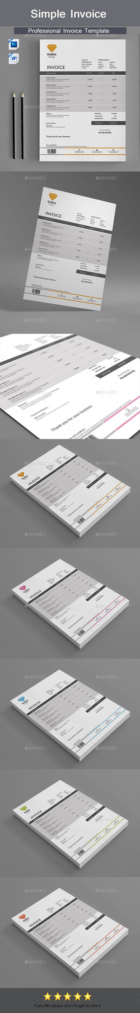 Invoice by RealisticArt A professional and sharp